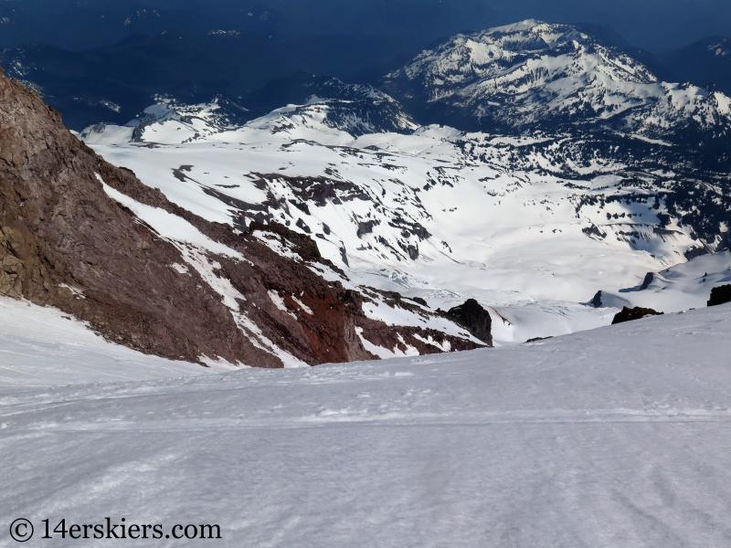 Skiing the Fuhrer Finger on Mount Rainier.