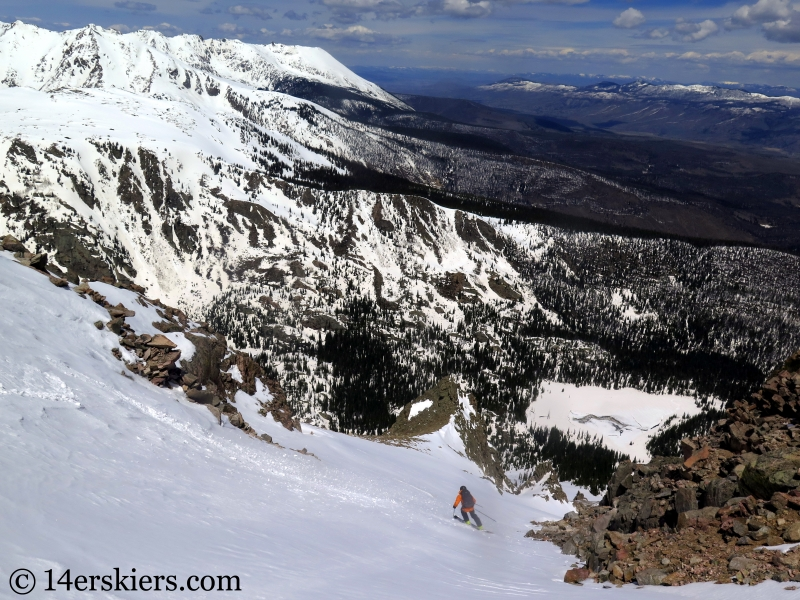 Backcountry ski Rain Peak