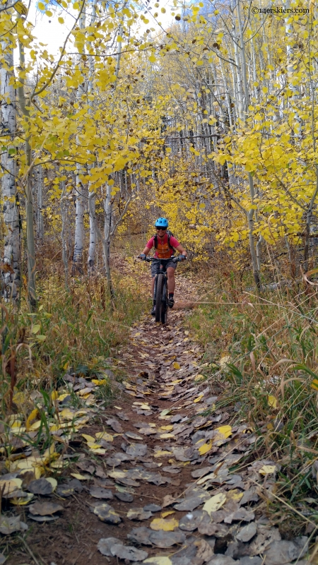 fall bike riding near aspen