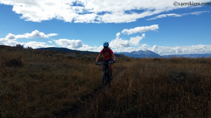 bike riding near mount sopris