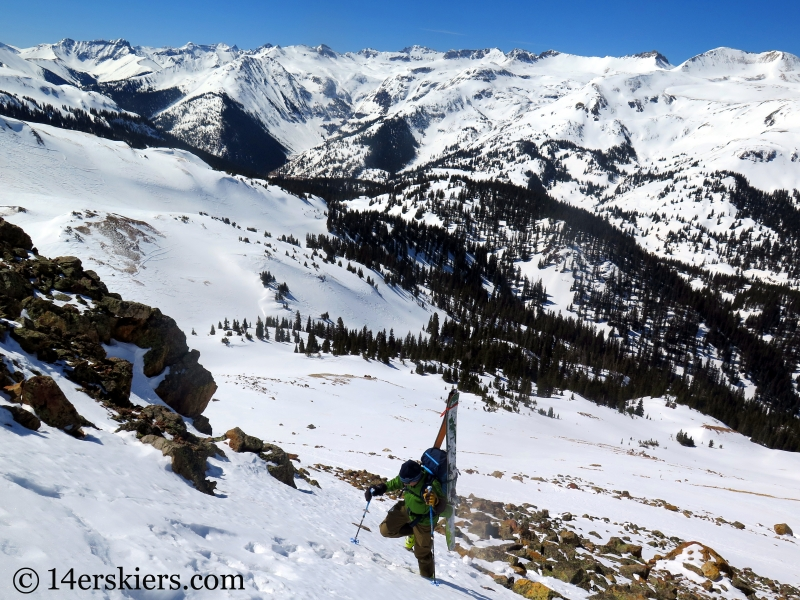 Frank Konsella backcountry skiing on Red Mountain 3.