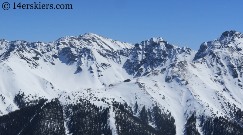 Backcountry skiing in the San Juans.