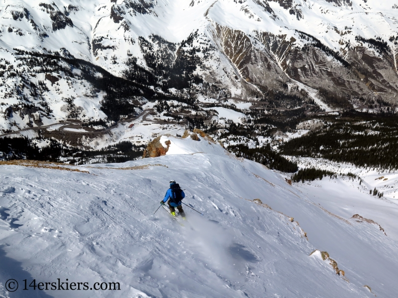 Frank Konsella backcountry skiing Red Mountain 3.