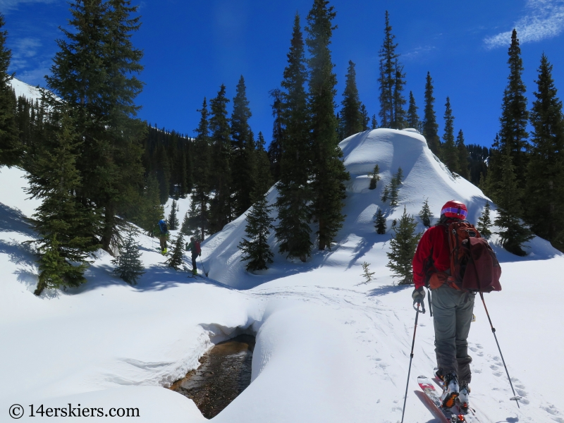 Backcountry skiing on Red Mountain 3.