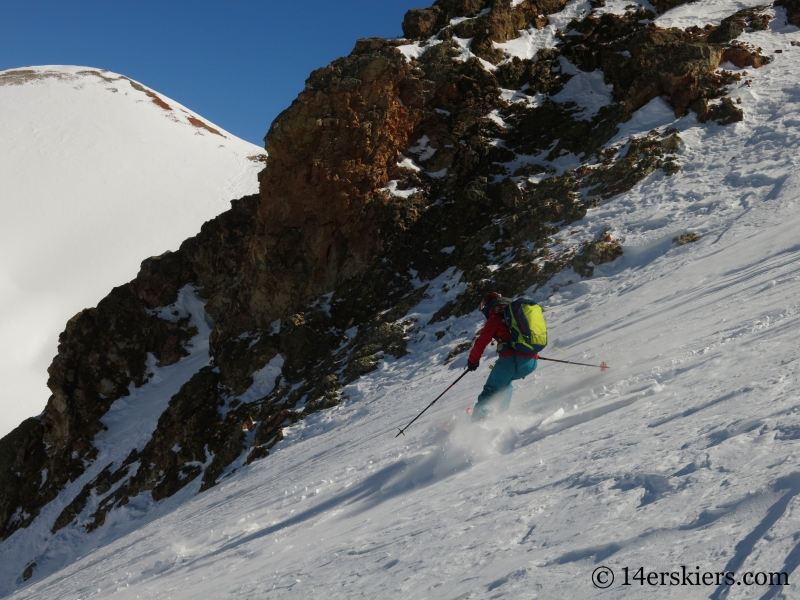 Brittany Konsella backcountry skiing Red Mountain 3.