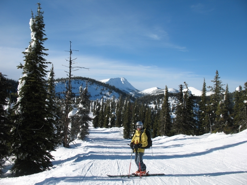 Skiing at Red Mountain near Rossland, BC