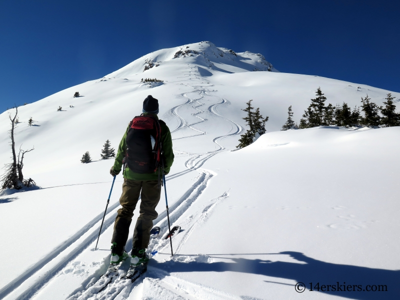 Backcountry skiing near Red Mountain Pass.