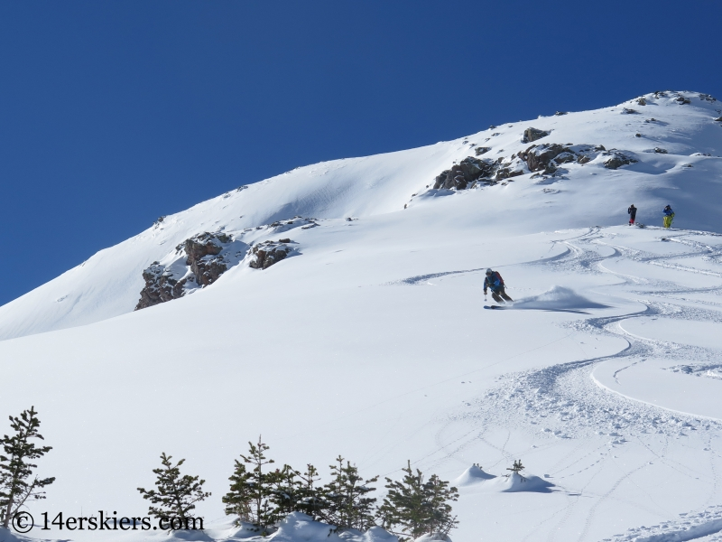 Frank Konsella backcountry skiing on Red Mtn Pass.