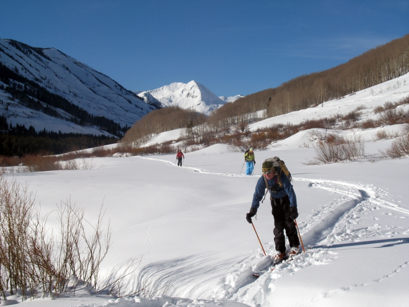 Backcountry skiing in Redwell Basin near Crested Butte.