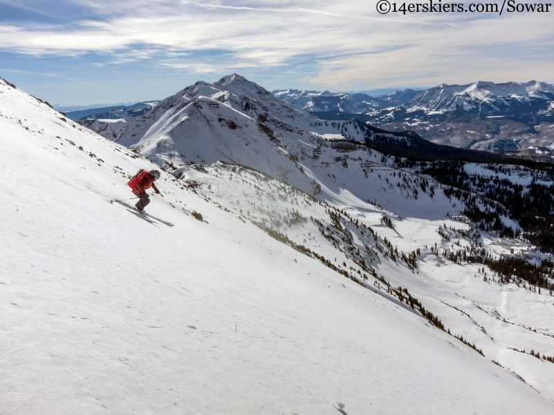 skiing the west side of the ruby range