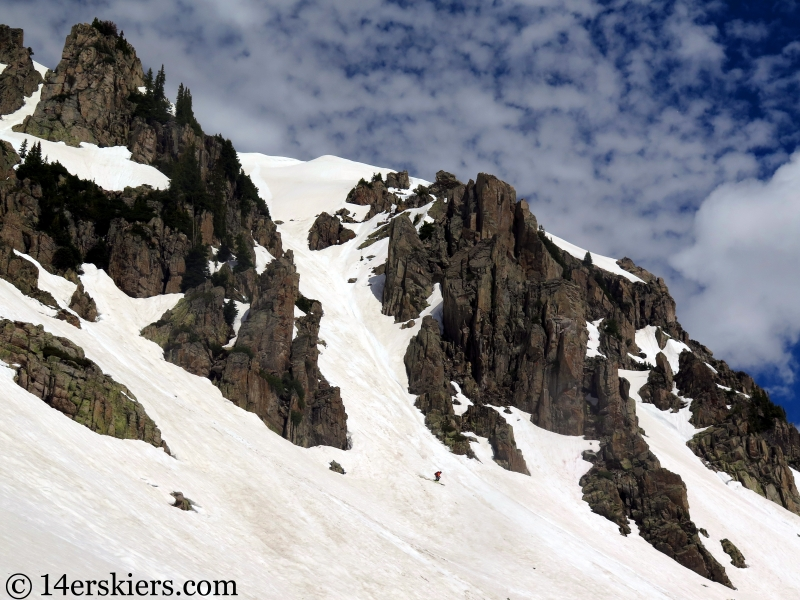 Backcountry skiing Mount Richmond near Crested Butte, CO.