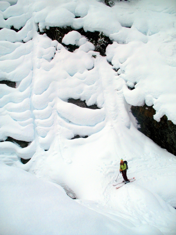 Backcountry skiing Roger's Pass, British Columbia, Canada