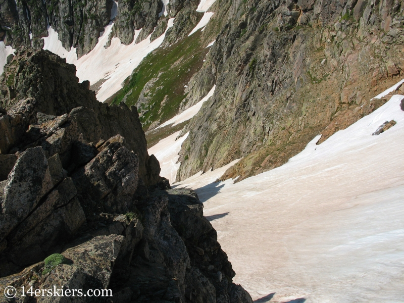 Backcountry skiing on Rollins Pass in summer