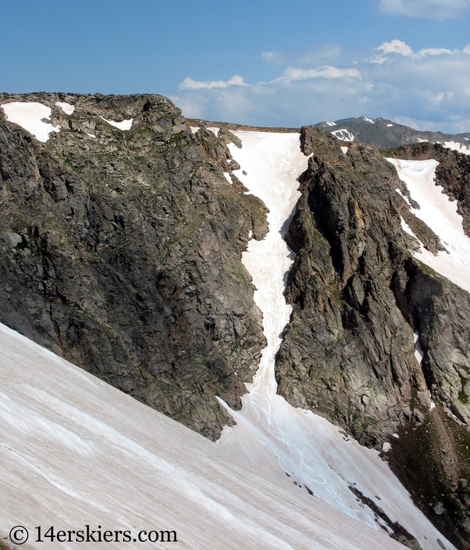Backcountry skiing on Rollins Pass in summer.