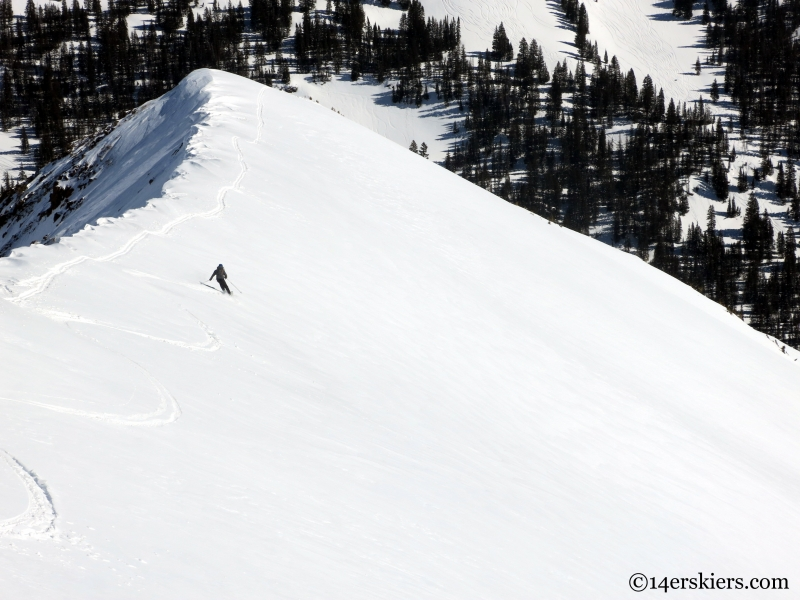 ruby peak skiing crested butte