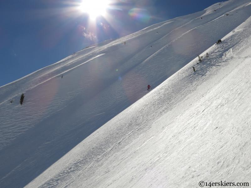 skier gothic mountain