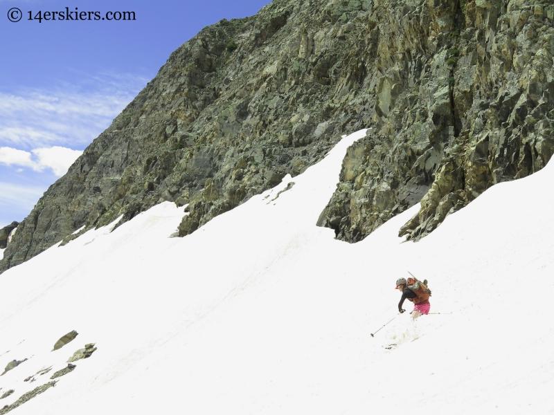 Jenny skiing Ruby