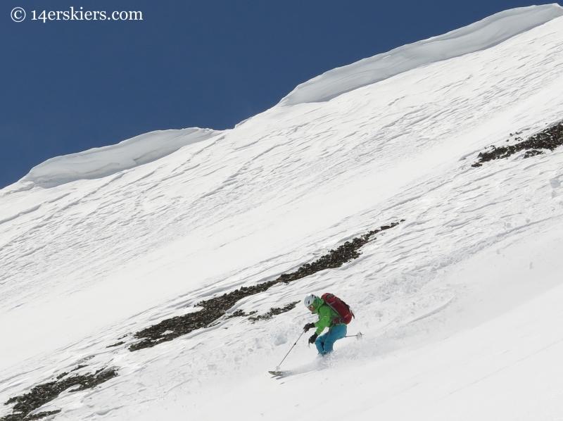 Starr Jamison skiing