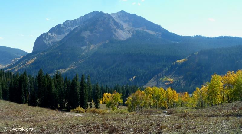 Hiking Rustler Gulch near Crested Butte, CO.