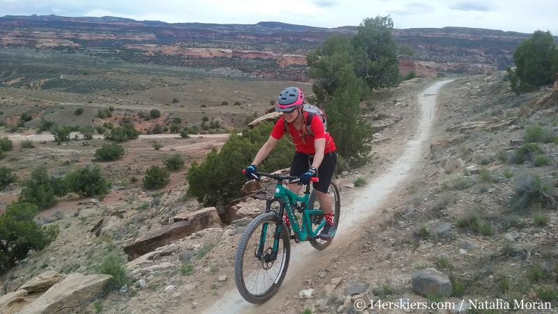 Mountain biking 101 - Wranglers Loop near Loma, Colorado