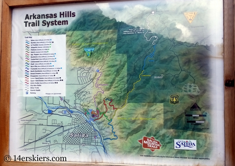 Mountain biking Arkansas Hills Trail System in Salida, CO