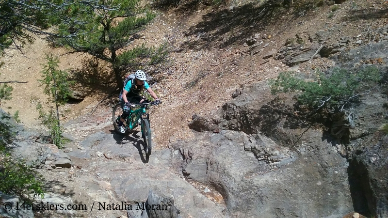 Brittany Walker Konsella mountain biking Arkansas Hills Cottonwood Tour in Salida, CO