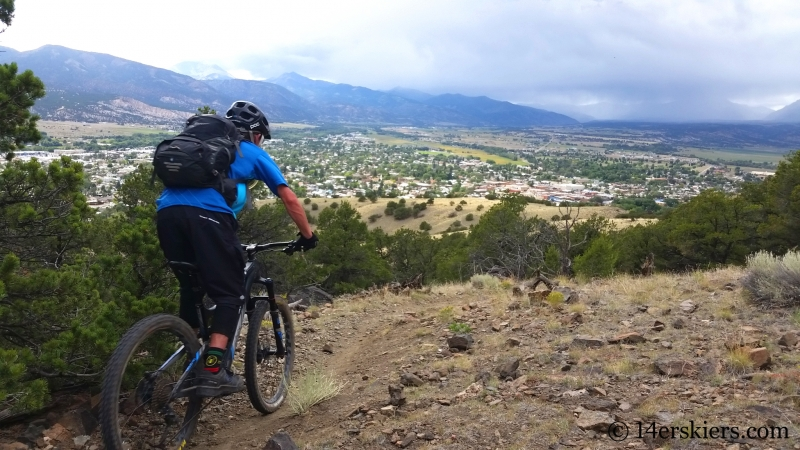 Larry Fontaine mountain biking Arkansas Hills Cottonwood Tour in Salida, CO