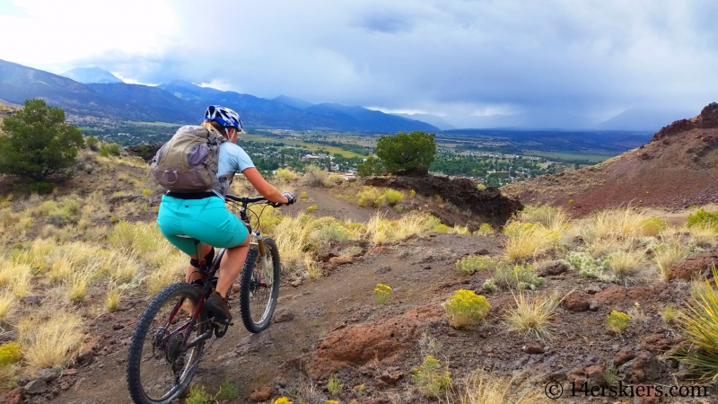 Natalie Moran mountain biking Arkansas Hills Cottonwood Tour in Salida, CO