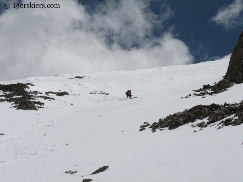 Frank Konsella backcountry skiing on San Luis Peak.