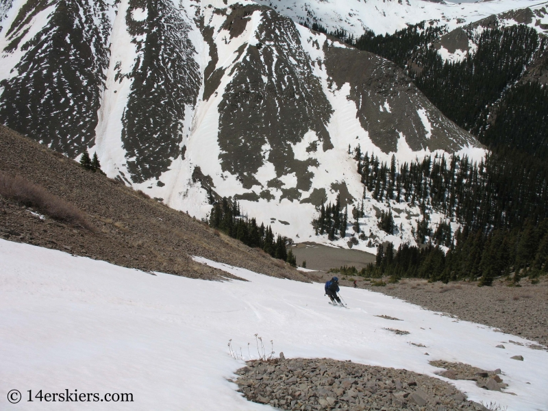 Jordan White backcountry skiing on San Luis Peak.