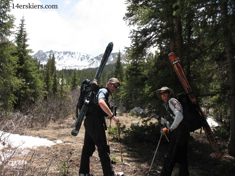 Backcountry skiing on San Luis