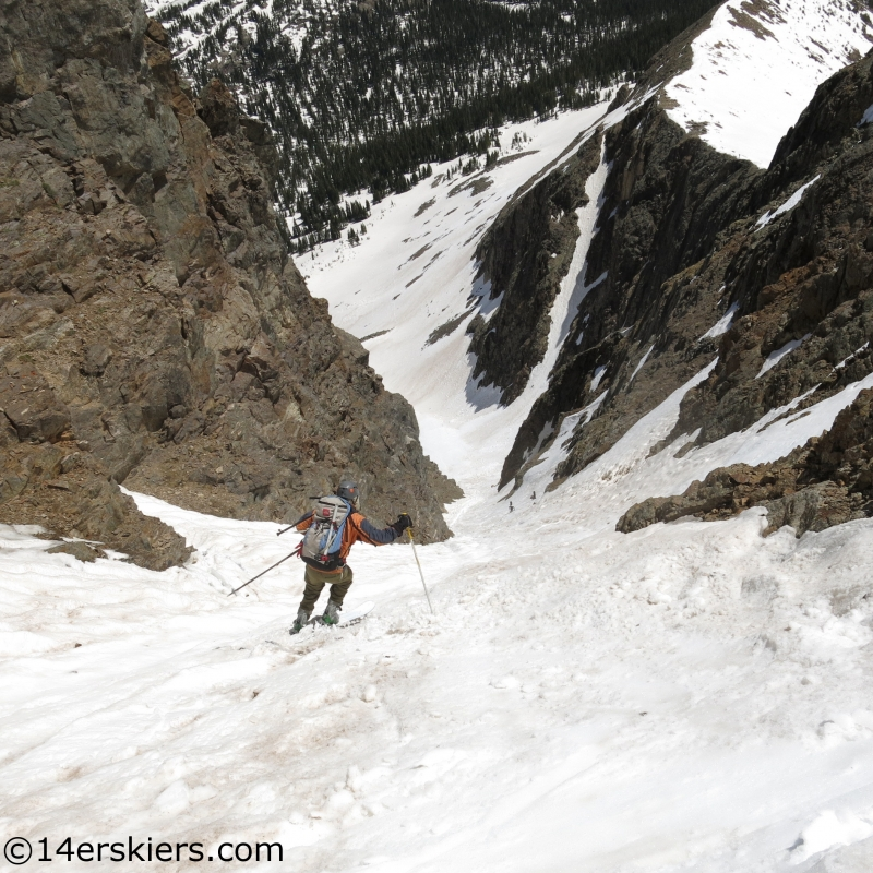 savage couloir ski