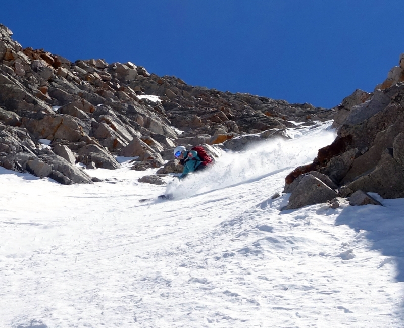Backcountry skiing Sayres X-rated