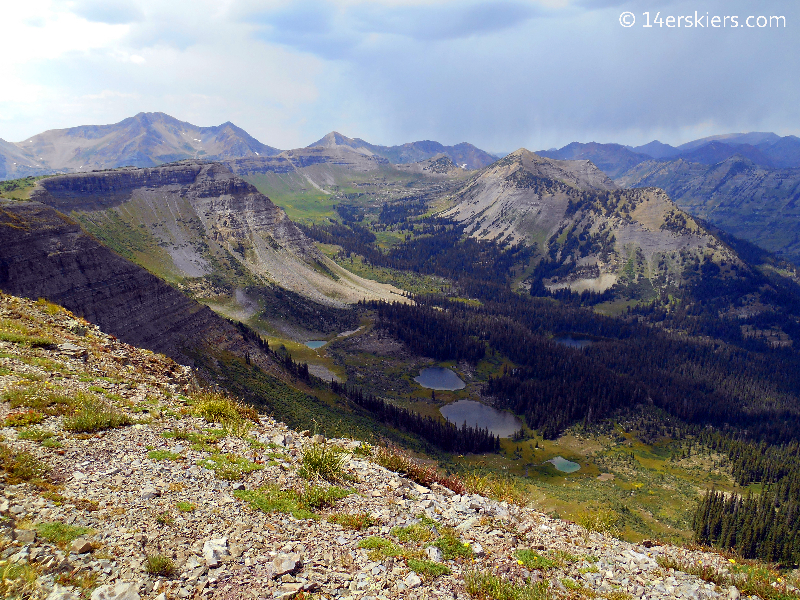 Peeler Lakes from Scarp's Ridge near Crested Butte