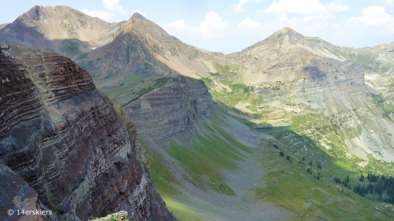 Hiking Scarp Ridge Loop near Crested Butte