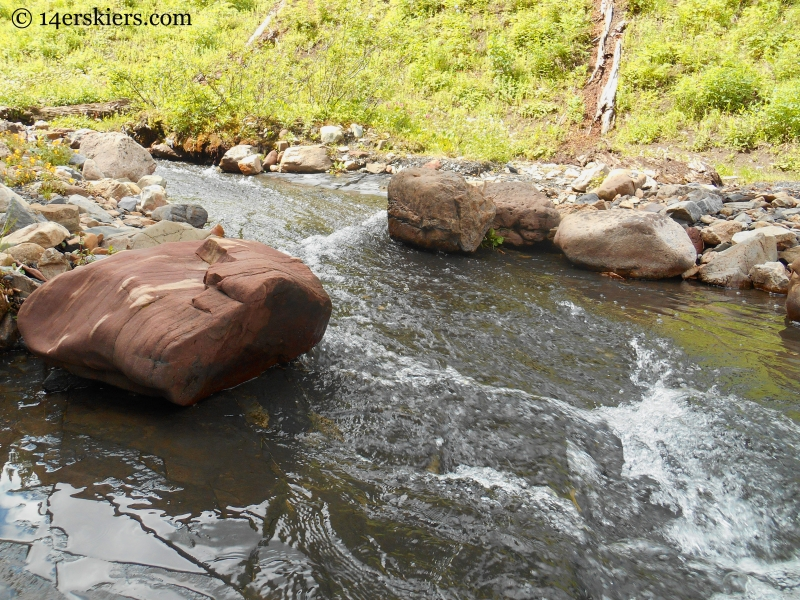 creek crossing on Schofield Trail