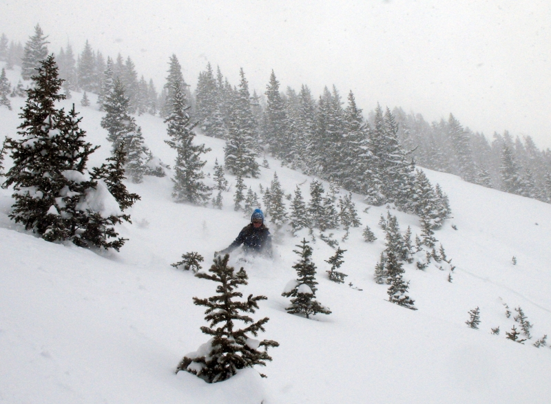 Backcountry Skiing on Schuykill Ridge near Crested Butte, CO.