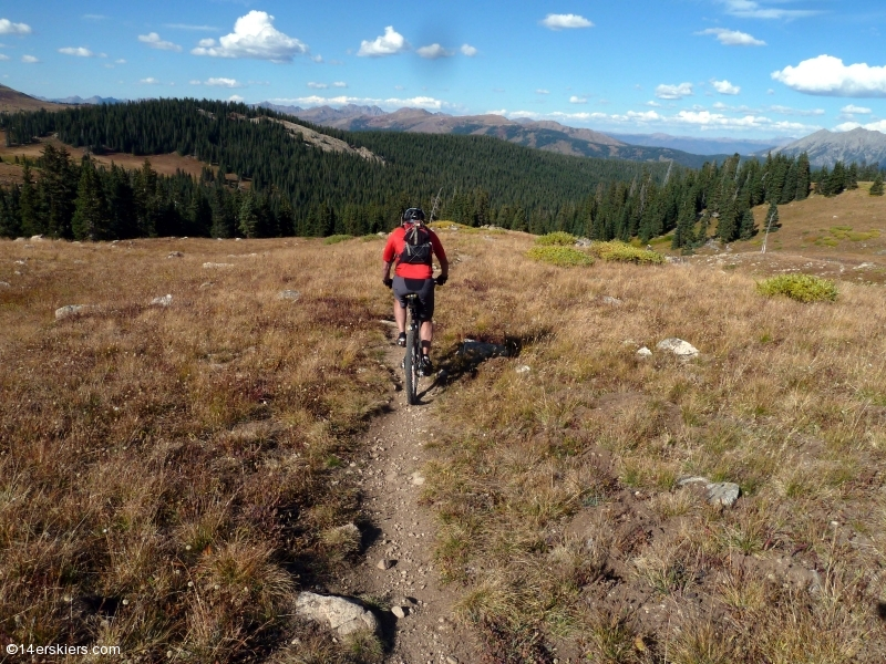 Mountain biking Searle Pass to Kokomo on the Colorado Trail