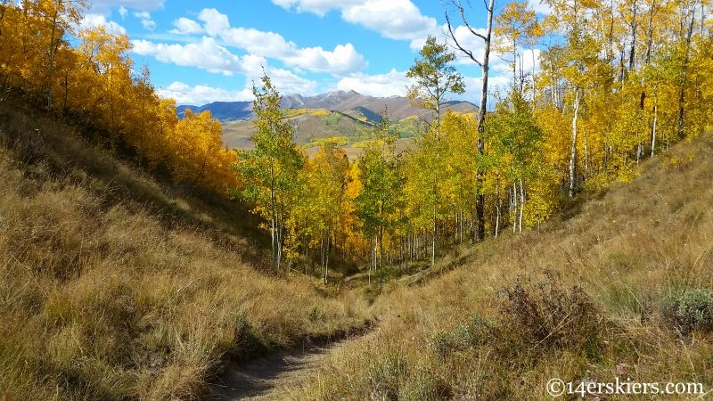 Fall mountain biking on Strand in Crested Butte.