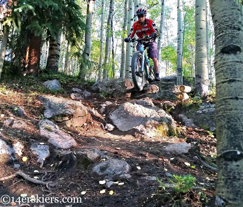 Mountain biking on Crested Butte Mountain Resort
