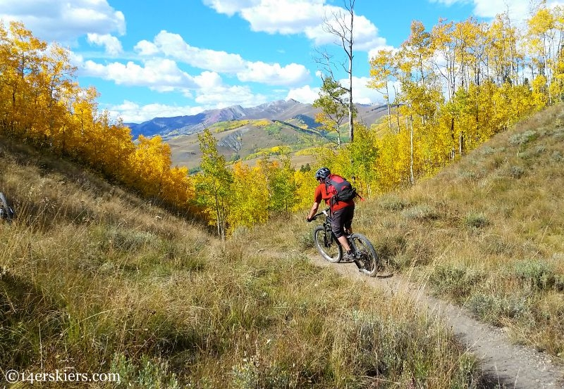 The Caves Loop - best early season mountain bike rides near Crested Butte.