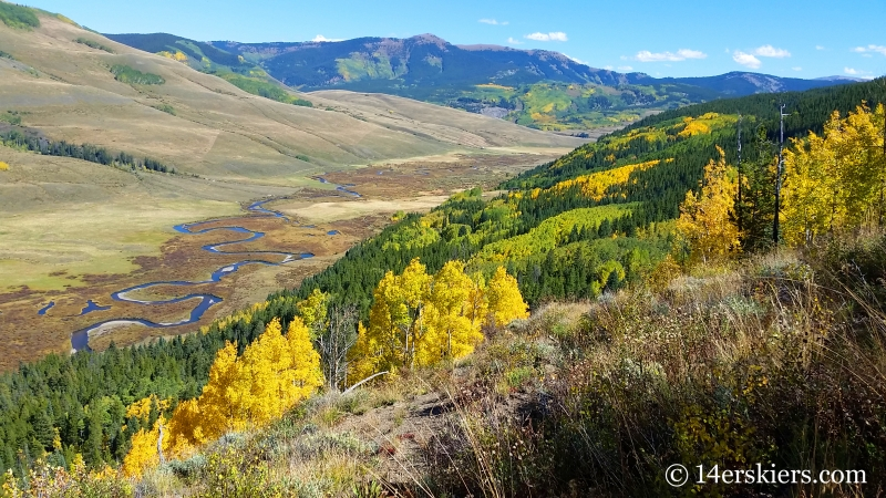 Fall colors on East River in Crested Butte.