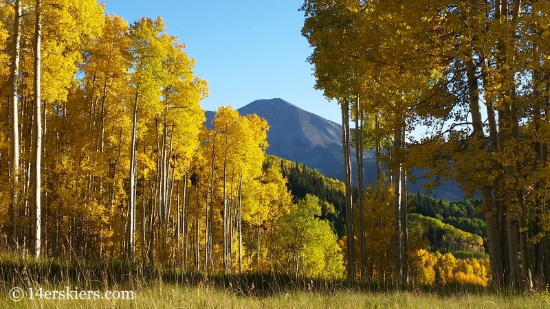 Fall colors in Crested Butte, Whetstone Mountain