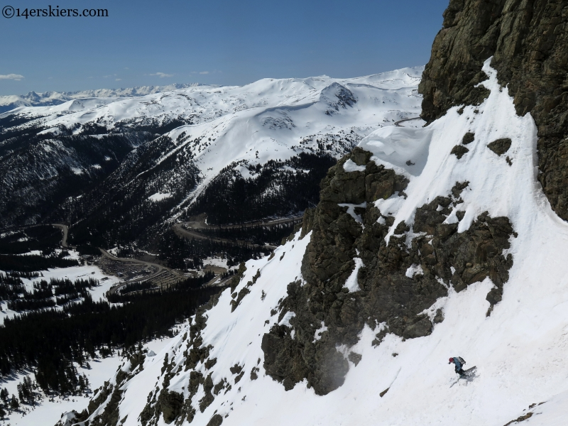 summit county couloir skiing