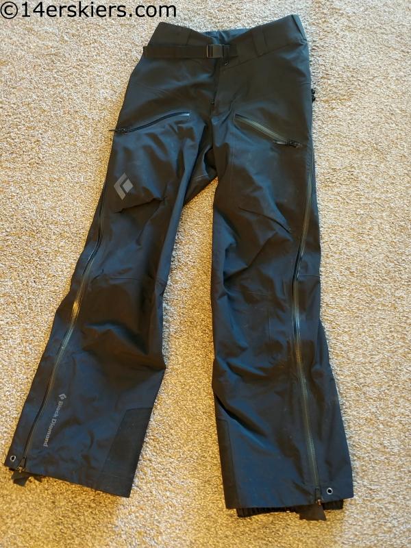 black diamond sharp end pants review