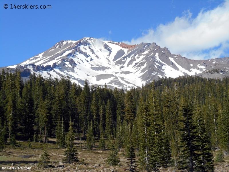 skiing Mount Shasta