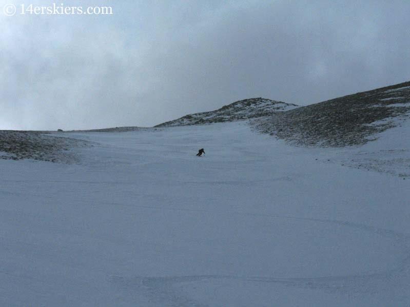 Frank Konsella backcountry skiing on Mount Shavano.