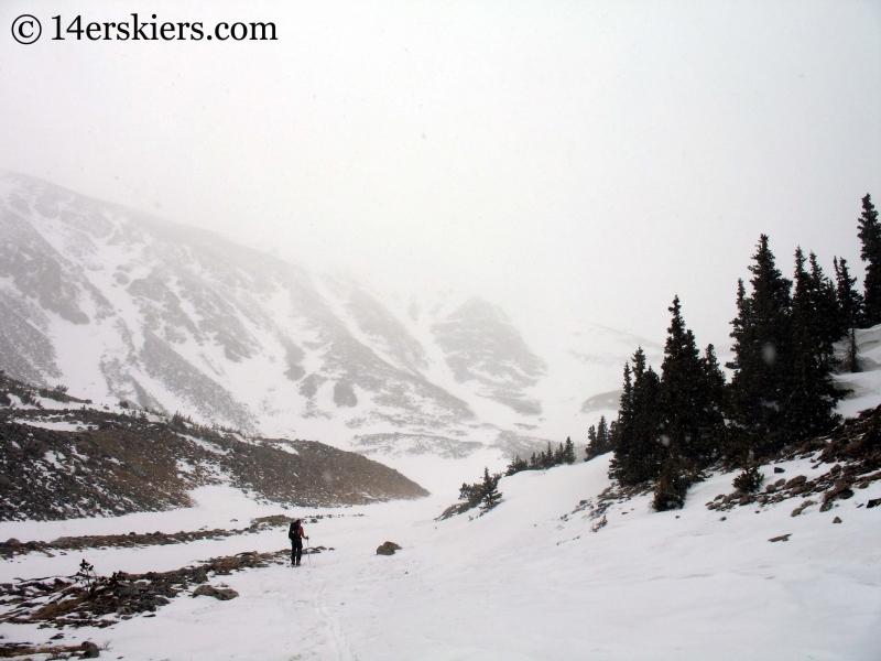 Frank skinning toward Mount Shavano.