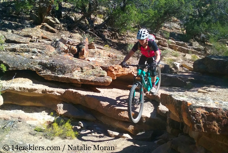 Brittany Konsella mountain biking Sidewinder Trail.
