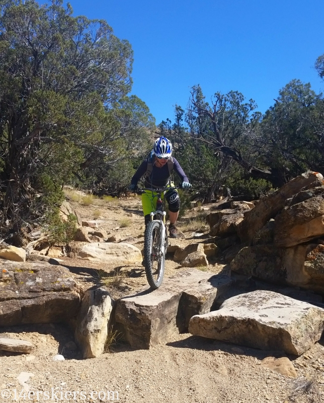 Natalie Moran mountain biking Sidewinder Trail.